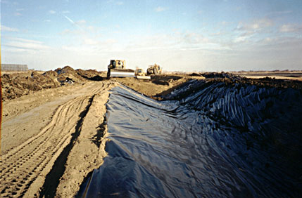 Irrigation Canal Geomembrane Liner Installation
