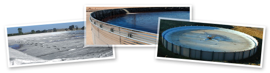Evaporation Control Covers and Water Storage Tanks