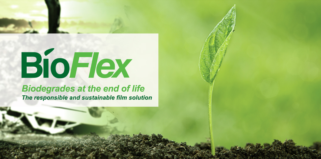 BioFlex sustainable food packaging degrades into green energy at the landfill.