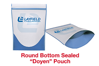 showing round bottom stand up pouch doyen pouch for food packaging
